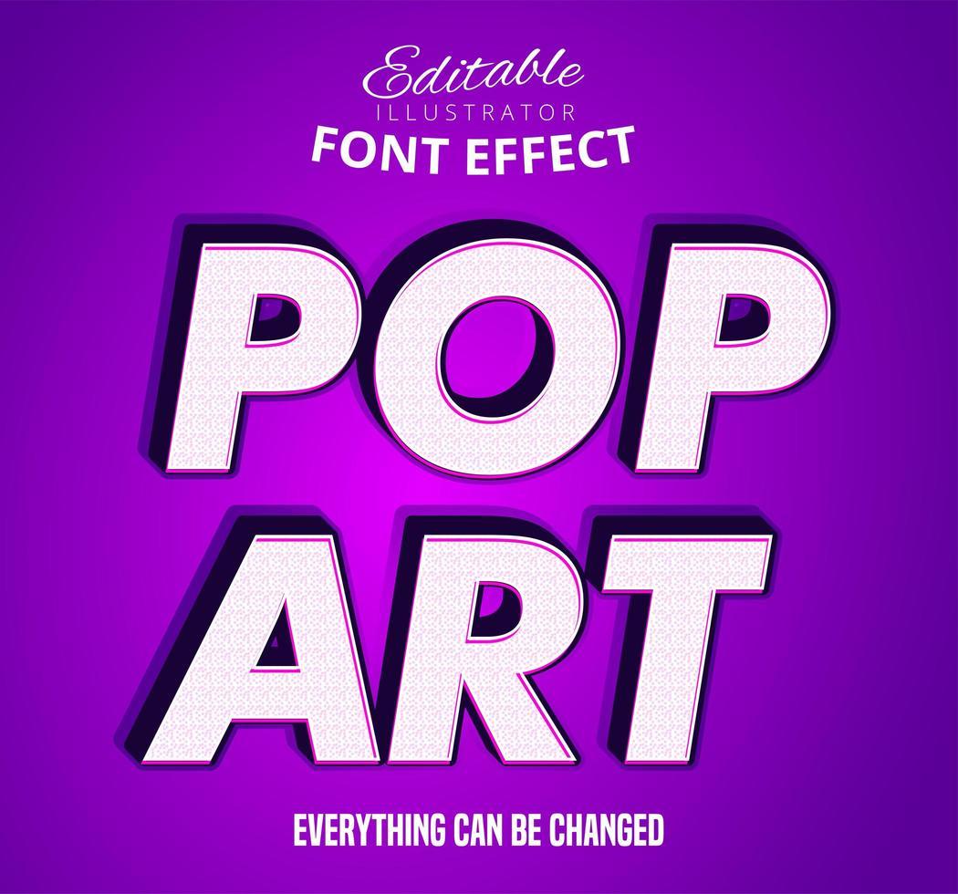 Pop art redigerbar teckensnitt effekt vektor
