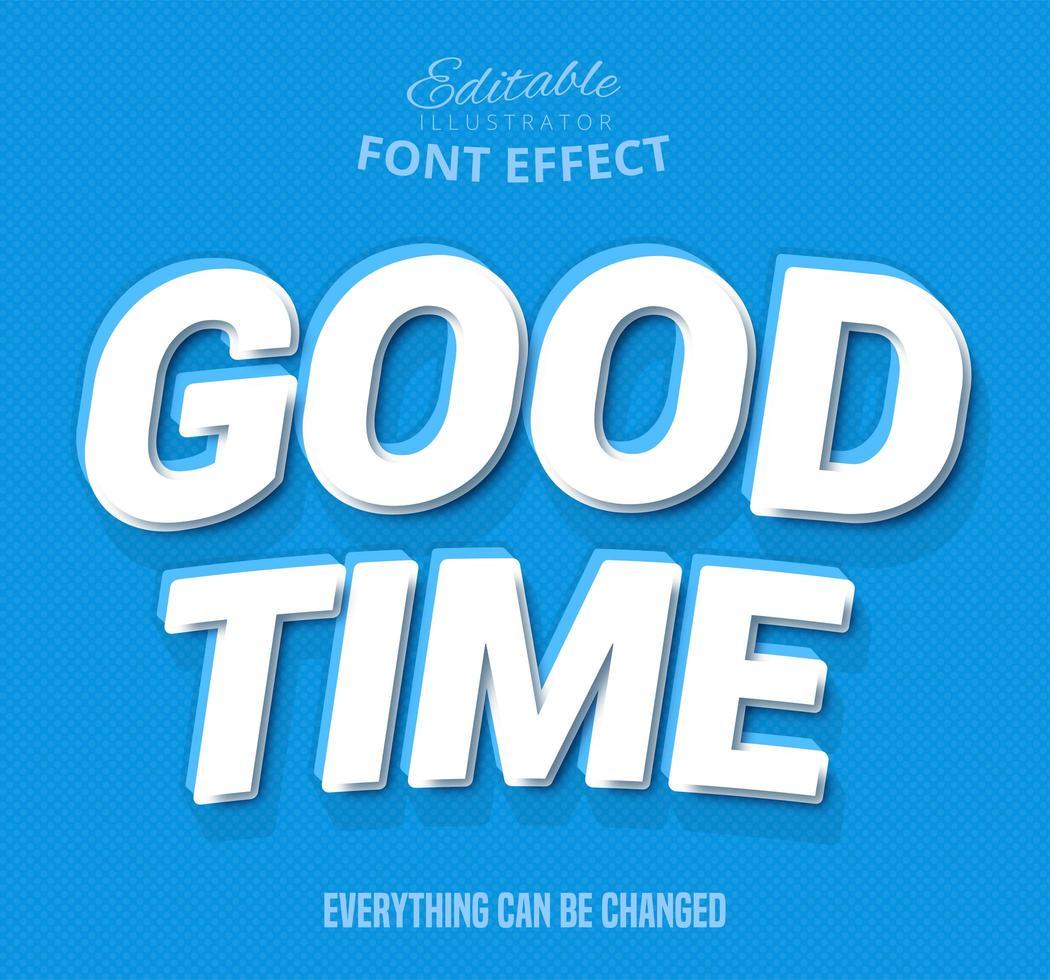 Testo Good Time, effetto di testo modificabile vettore