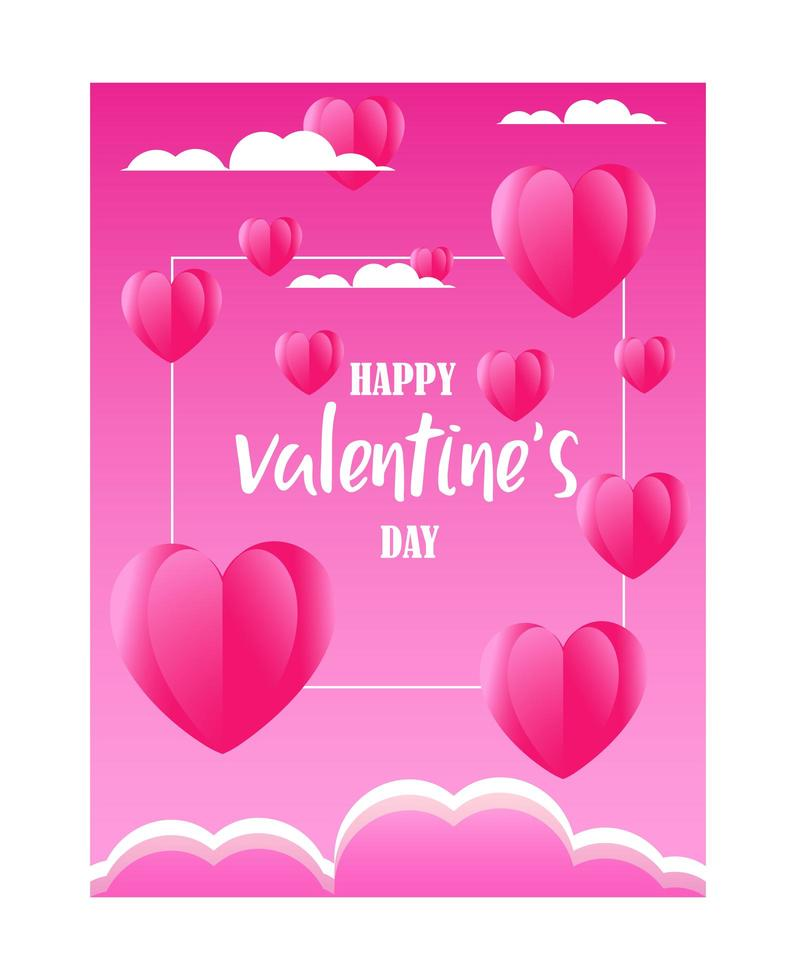 Valentine day's greeting vector