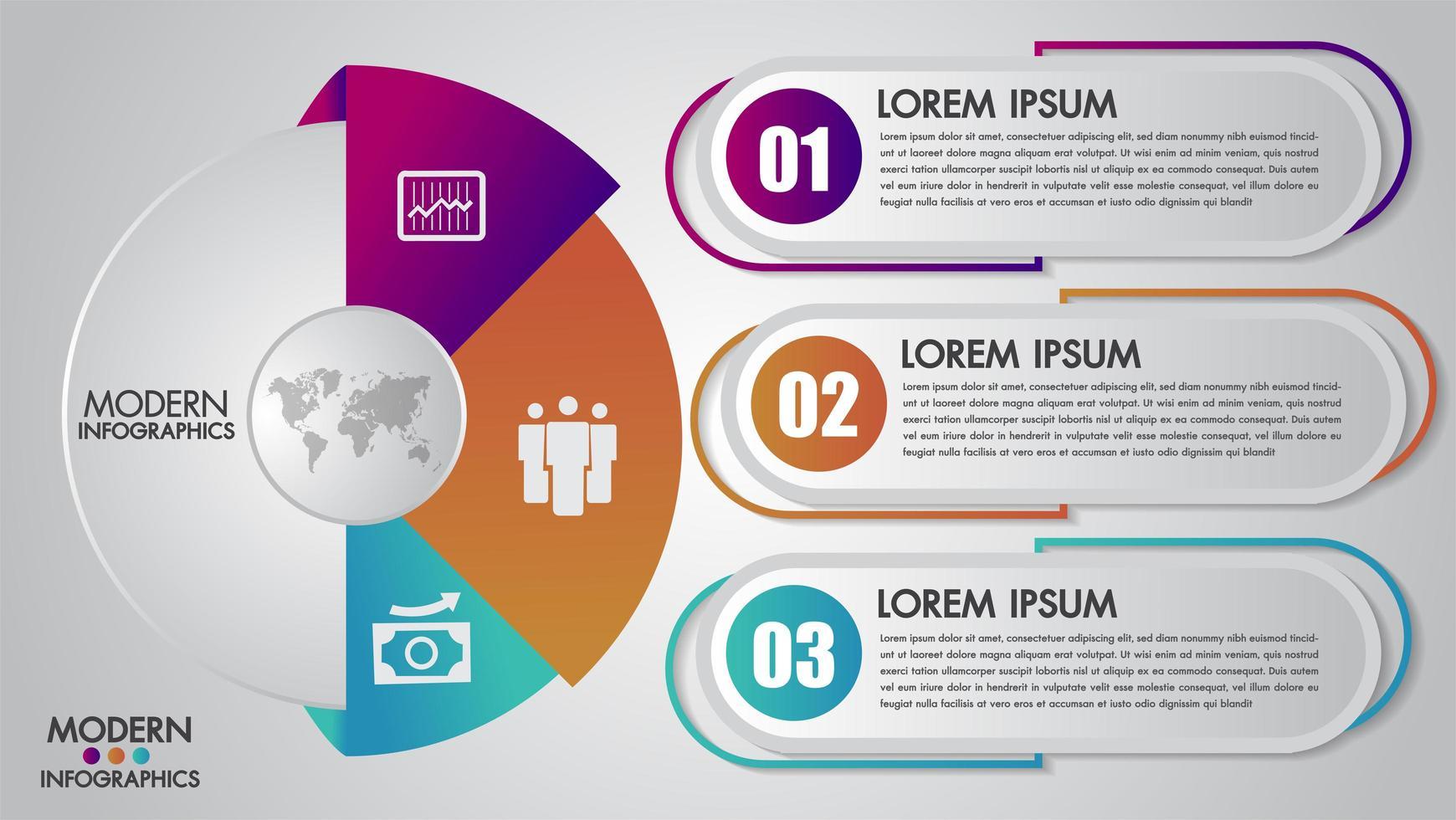 Plantilla de infografías de negocios para diagrama, gráfico, presentación y gráfico vector