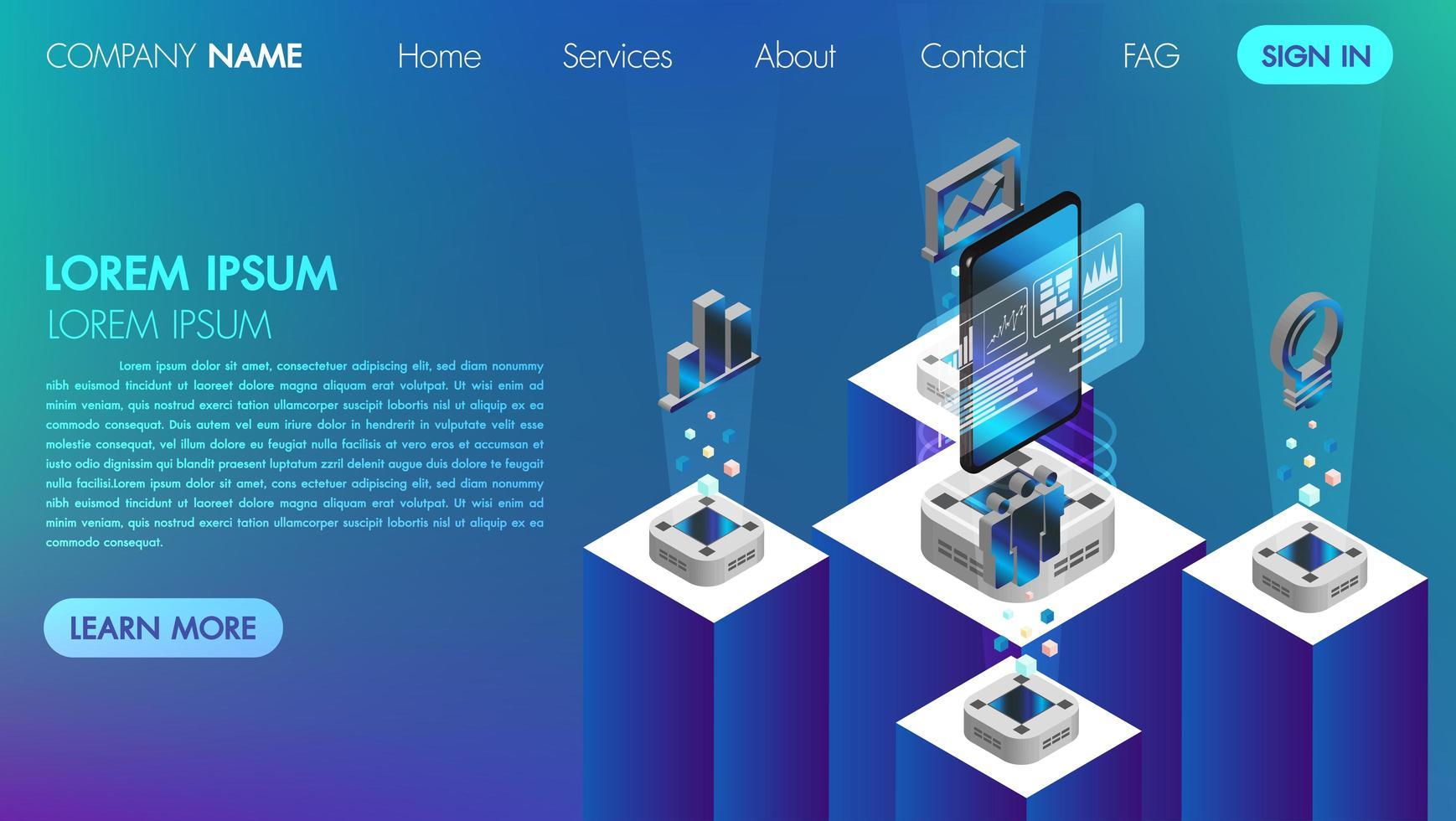 Concepto de comunicación de redes sociales de realidad virtual con tecnología connect vector
