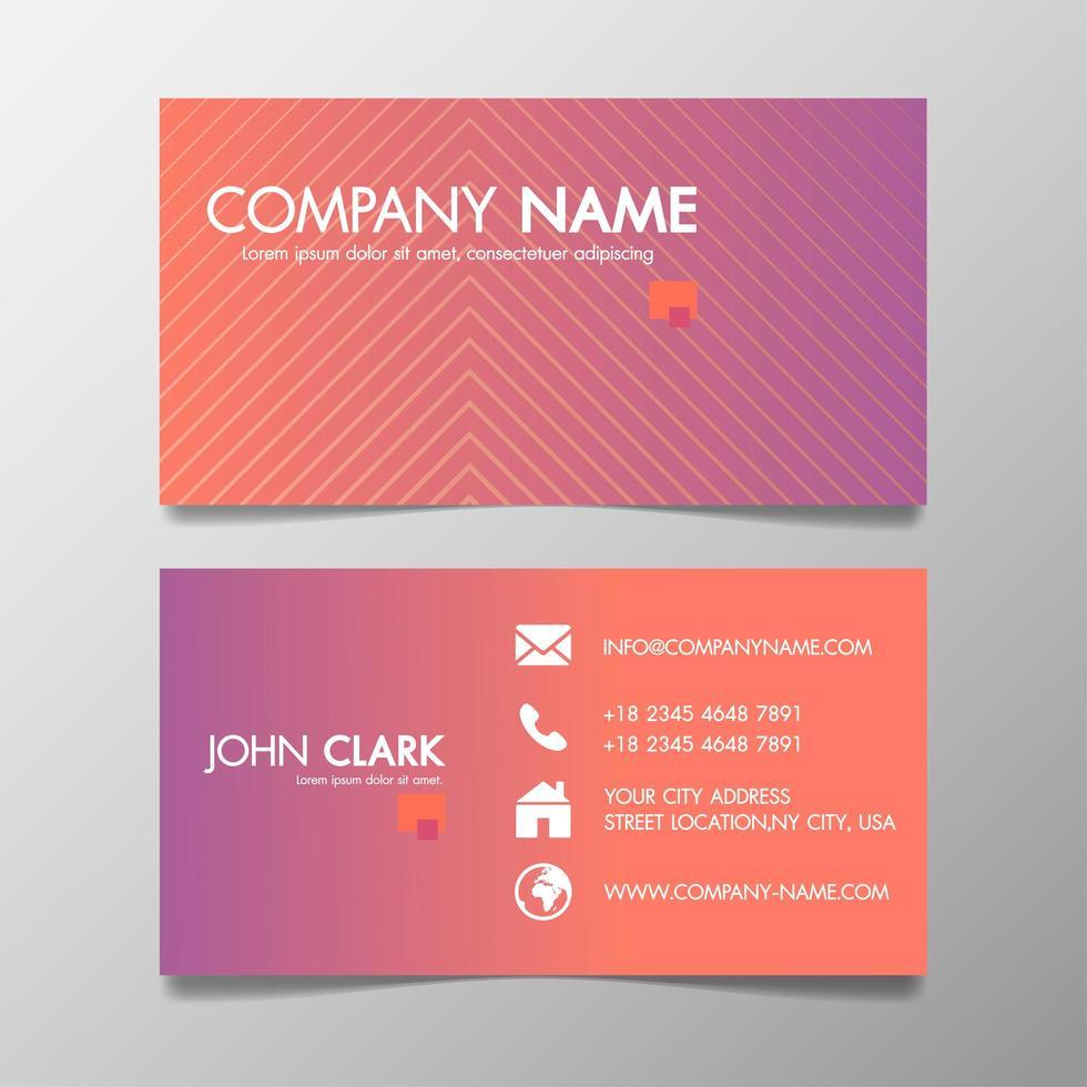 Diseño creativo moderno de plantilla de Vector de tarjeta de visita rosa