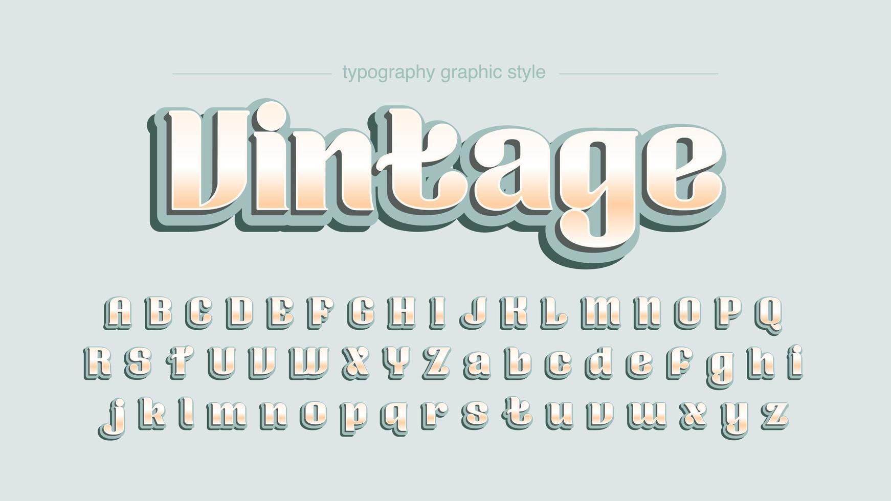 Tipografía de pantalla redondeada vintage vector