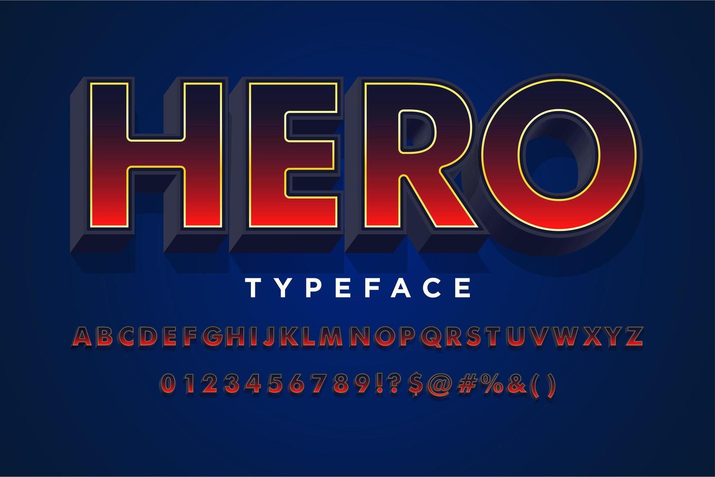 Style d'alphabet dégradé rouge et noir moderne