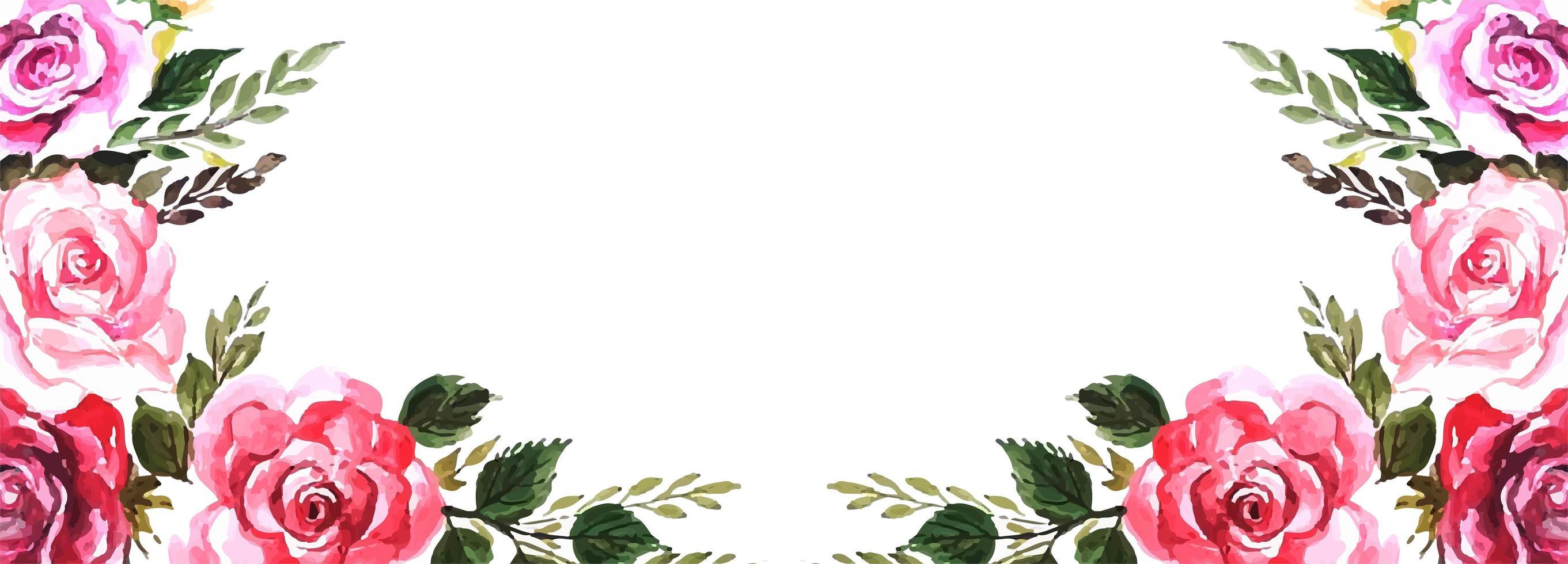 Elegant flowers background vector