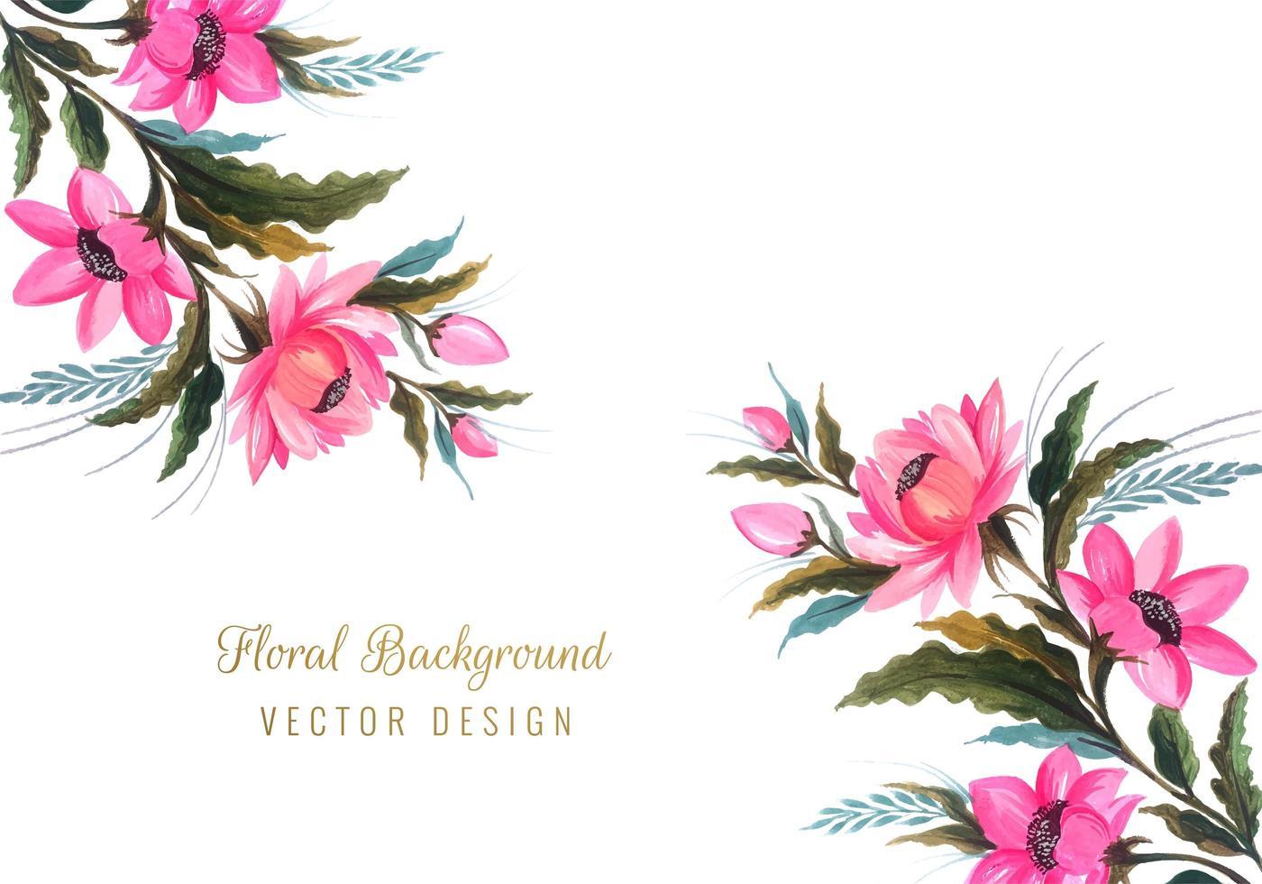 watercolor flower design vector