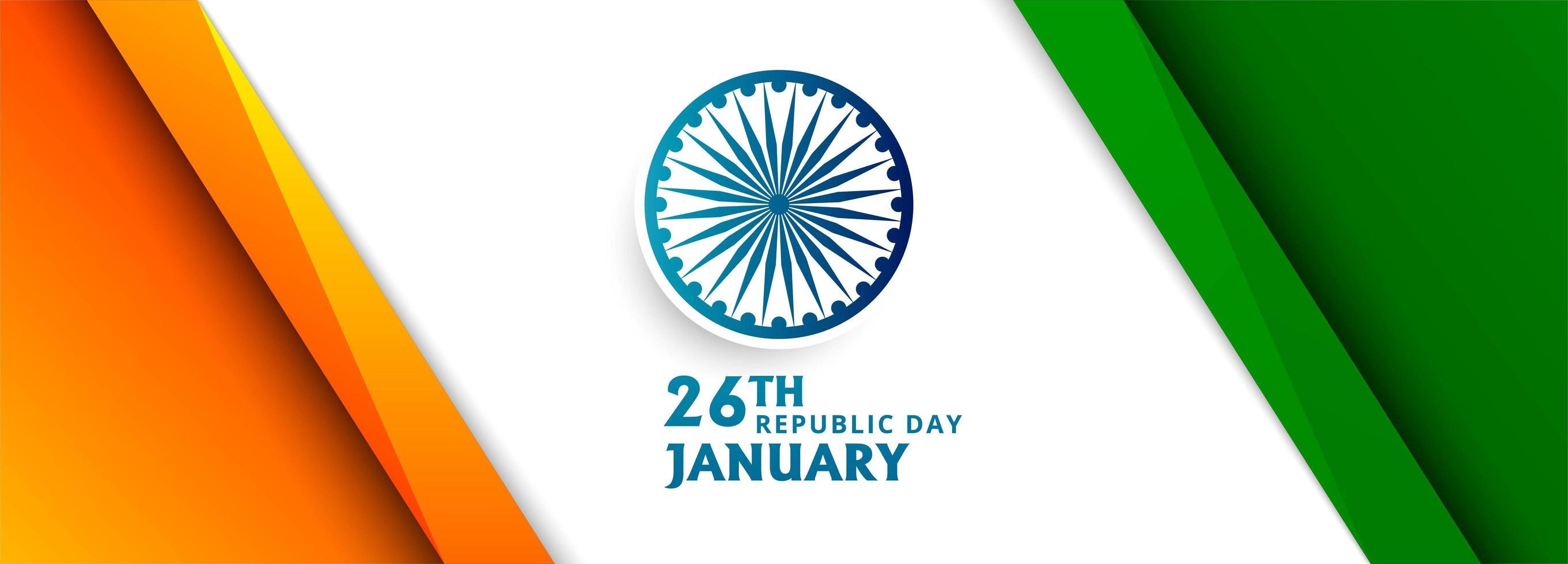 Bandiera dell'onda bandiera indiana con design ad angolo vettore