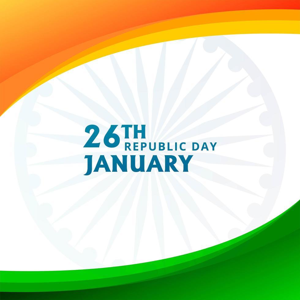 Día de la república india de la India con el tema de la bandera india vector