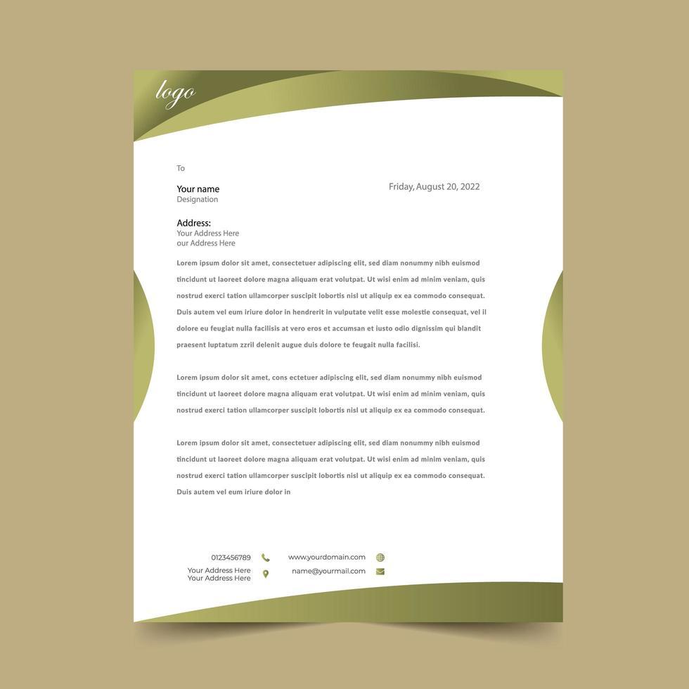 Disegno del modello di rilievo di carta intestata di oliva curva