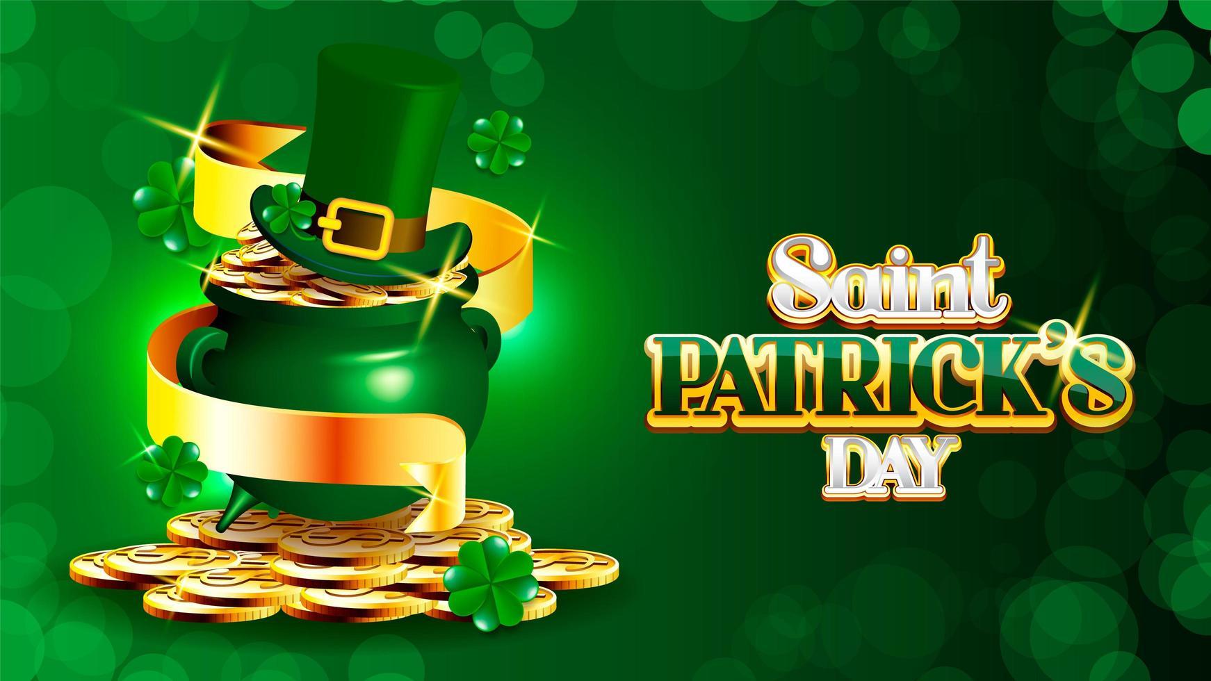 St. Patrick's Day mit Schatz des Kobolds vektor