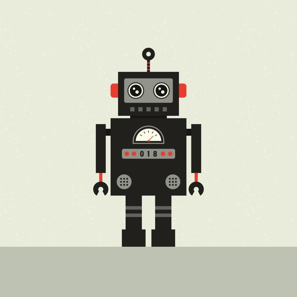 Vector Retro Robot Ilustración