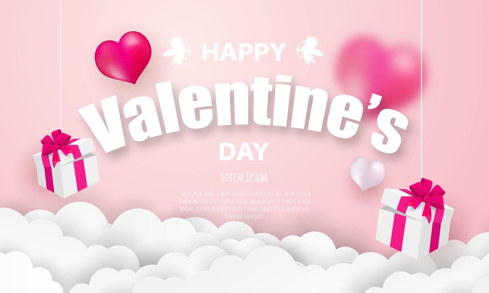 Modèle de bannière de la Saint-Valentin vecteur