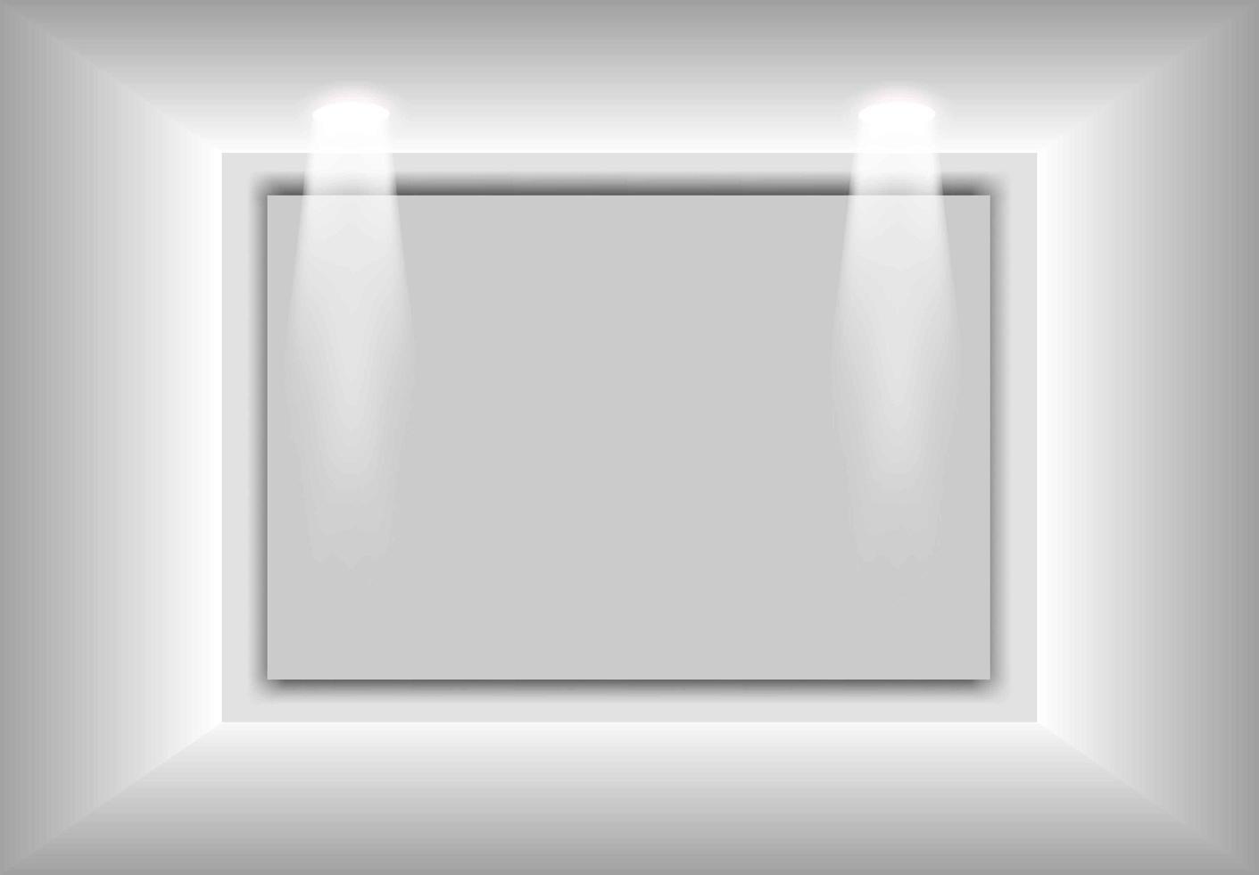 Maqueta 3d interior gris degradado simple para su marca vector