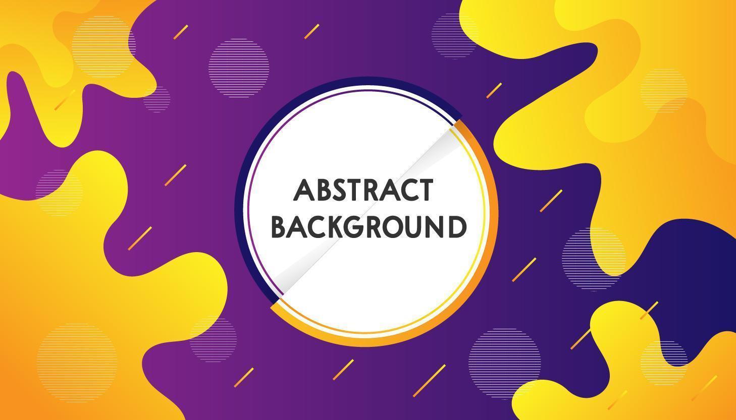 Fondo abstracto combinaciones púrpura y amarillo vector