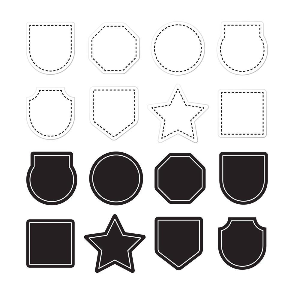 Marcos de etiquetas ornamentales vector