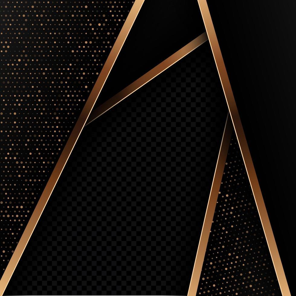 Fondo abstracto con diseño negro y dorado vector