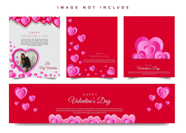Banner web di San Valentino vettore