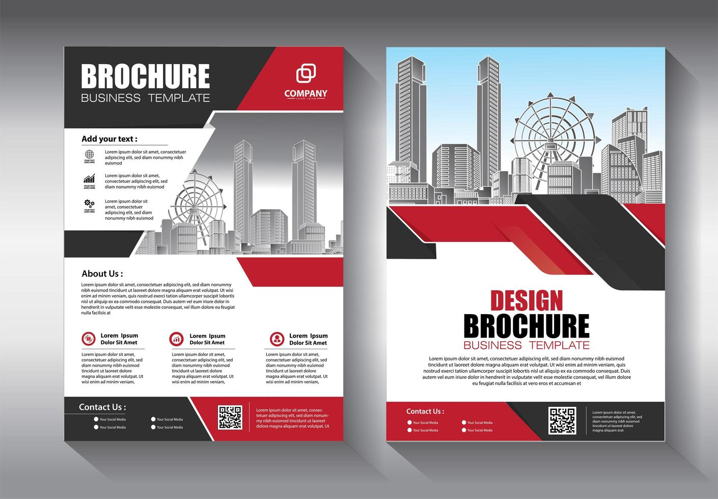 Business template with angled geometric shapes vector