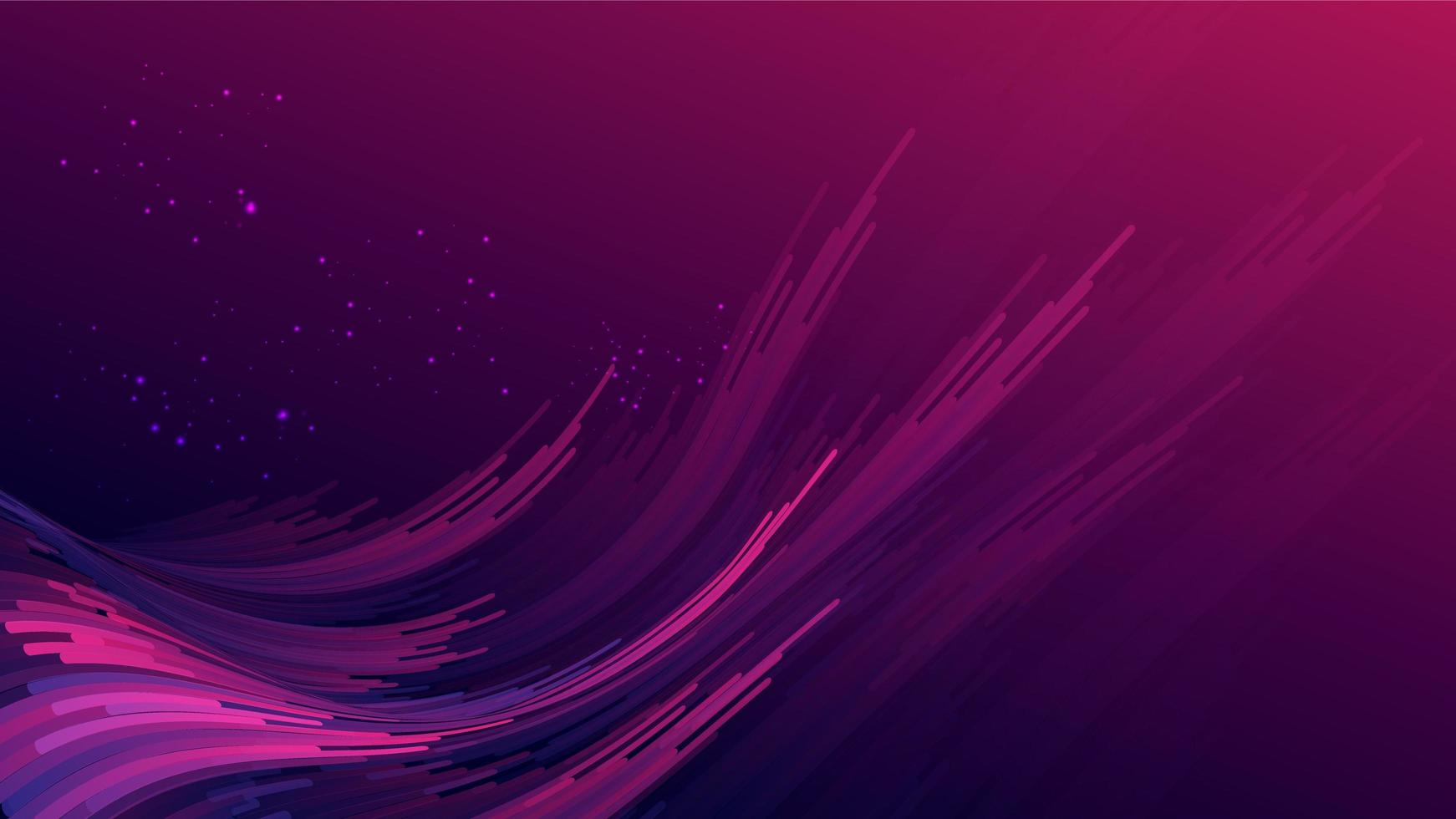 Abstract gradient purple pink curve wave stripes vector