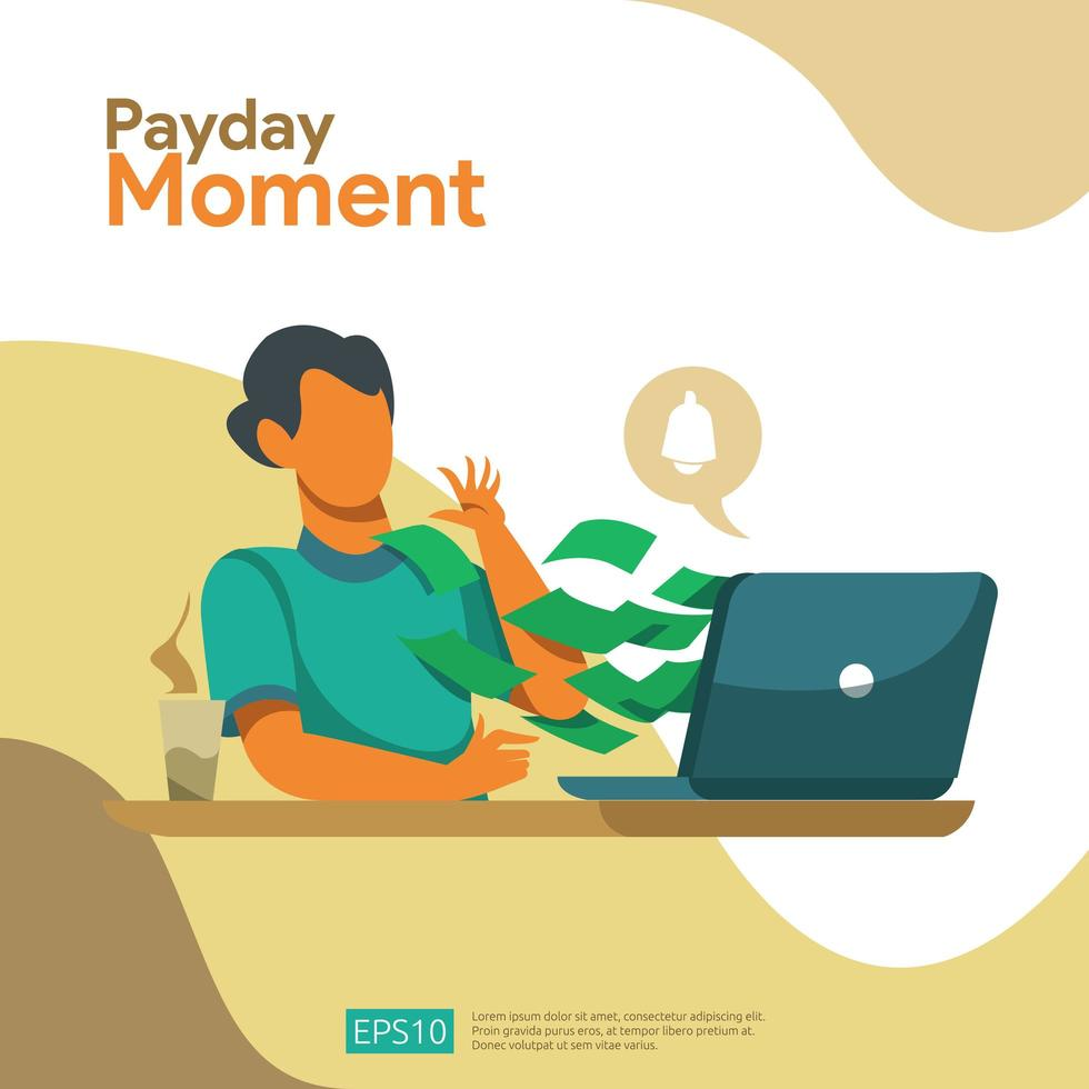 Payment Moment Payroll Concept vector