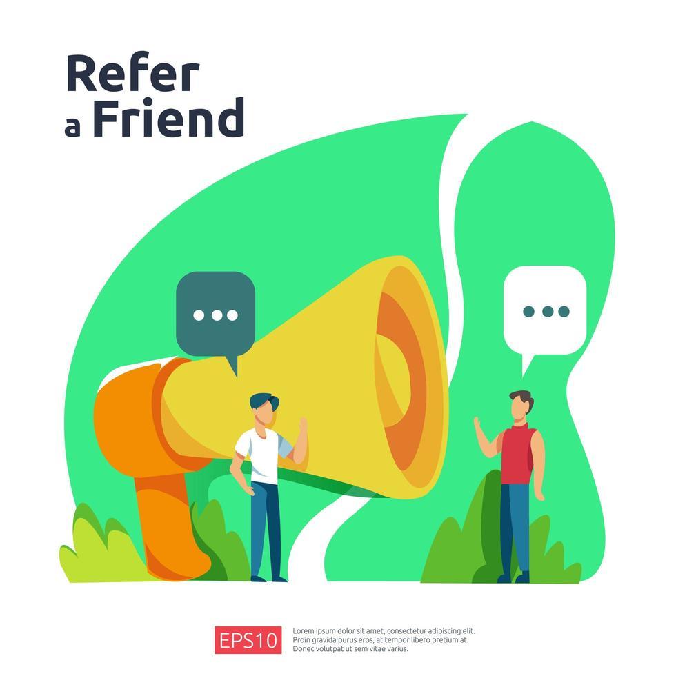 refer a friend illustration  vector