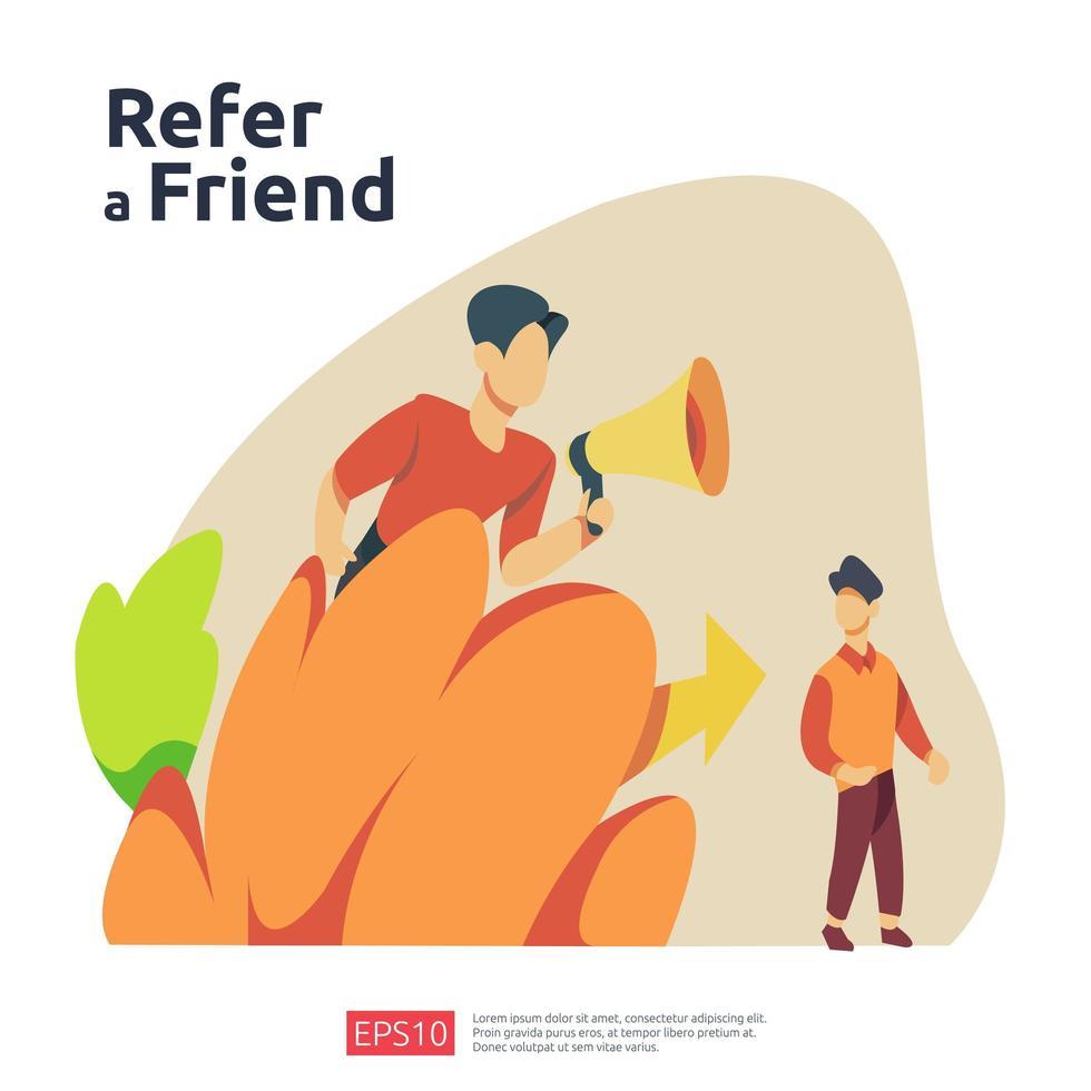 refer a friend illustration concept vector