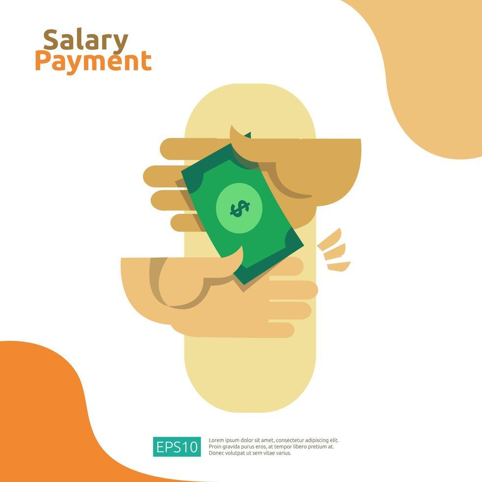 Concepto de negocio de pago de salario vector