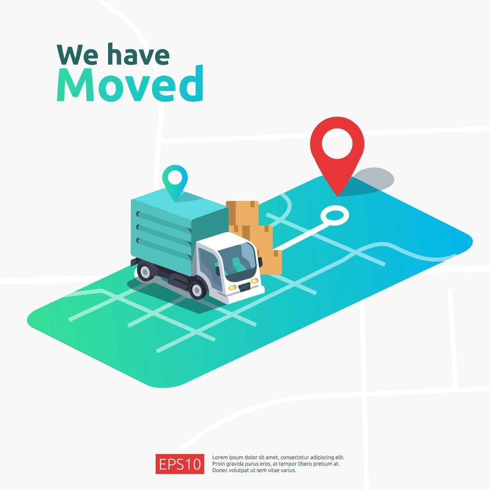 new location announcement business store vector