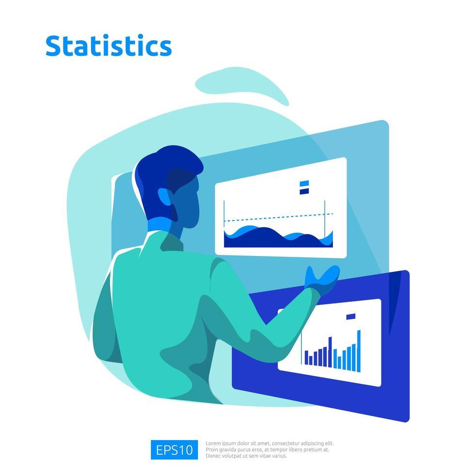 digital analyskoncept för affärsmarknadsundersökningar vektor