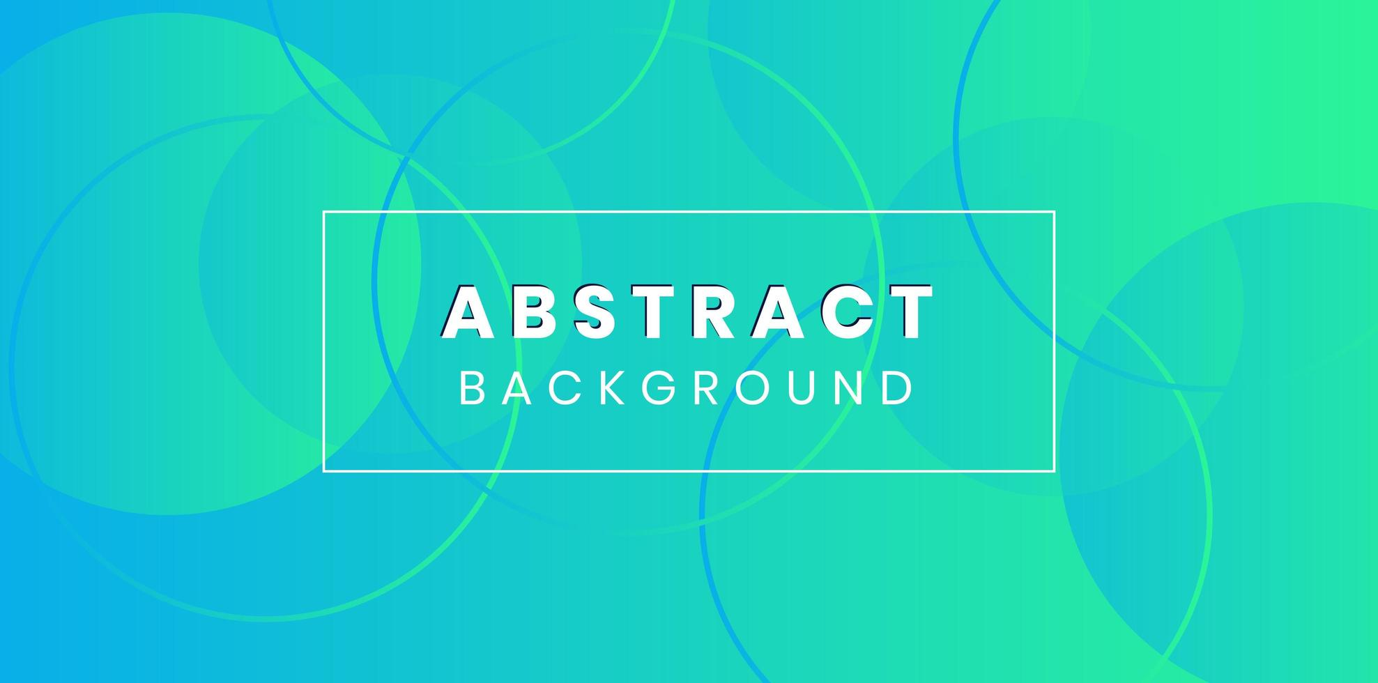 Blue green gradient and circles abstract background  vector