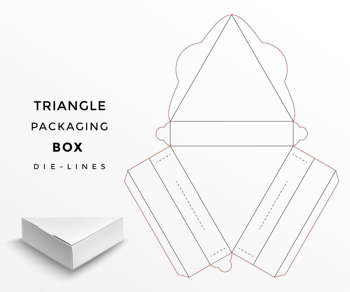 Linhas de matriz de caixa de embalagem triângulo vetor
