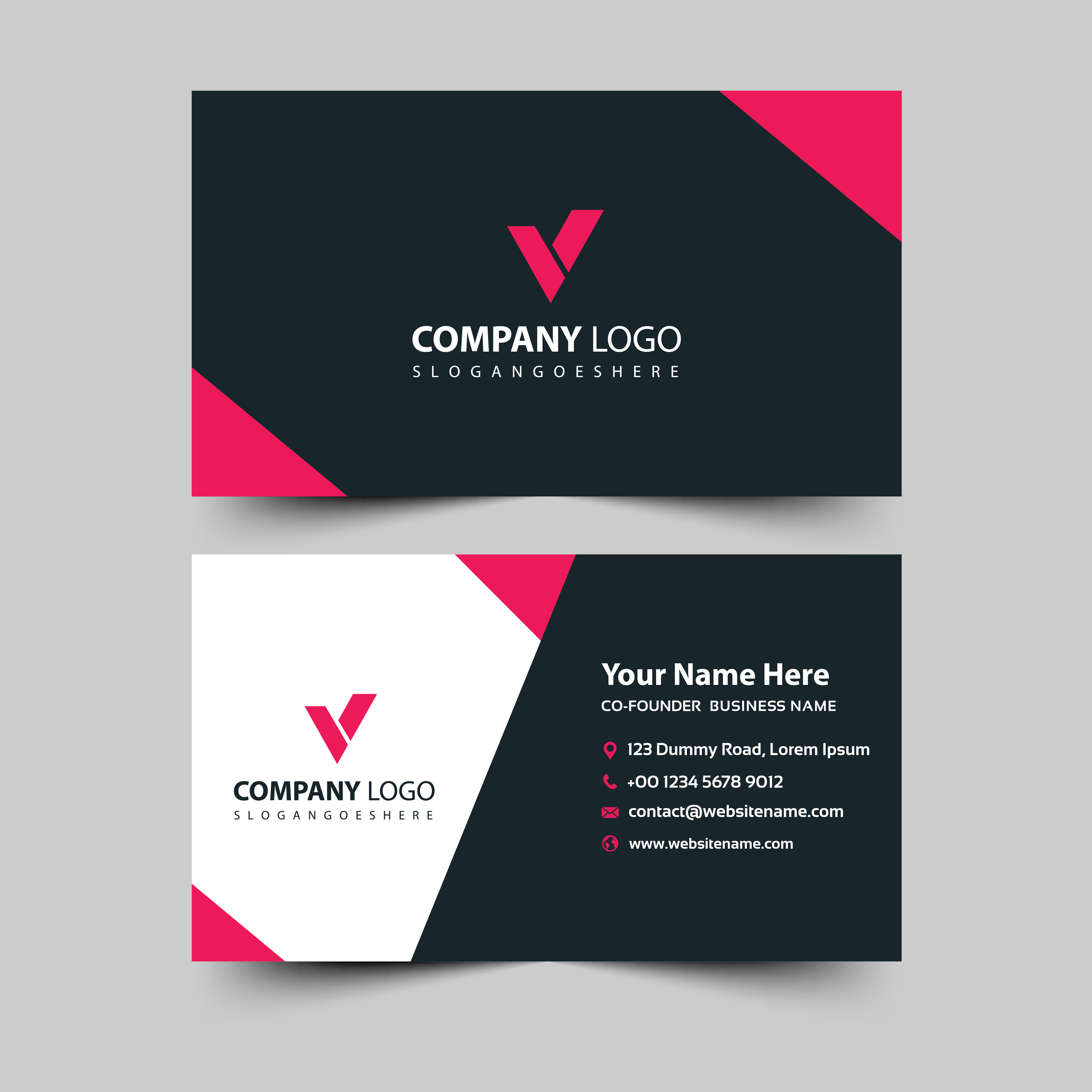 modern business card with angle design 693901  download