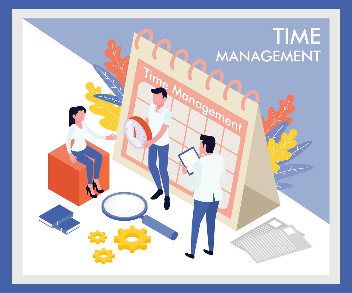 Progettazione di gestione del tempo isometrica vettore
