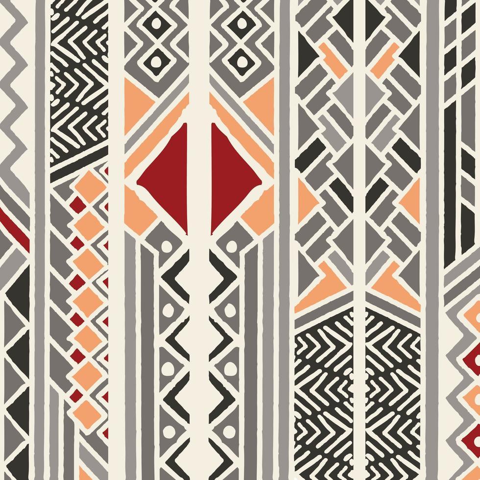 Etniska färgglada bohemiska mönster med geometriska element vektor
