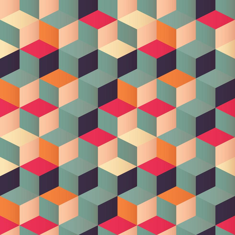 Padrão sem emenda geométrico com quadrados coloridos vetor
