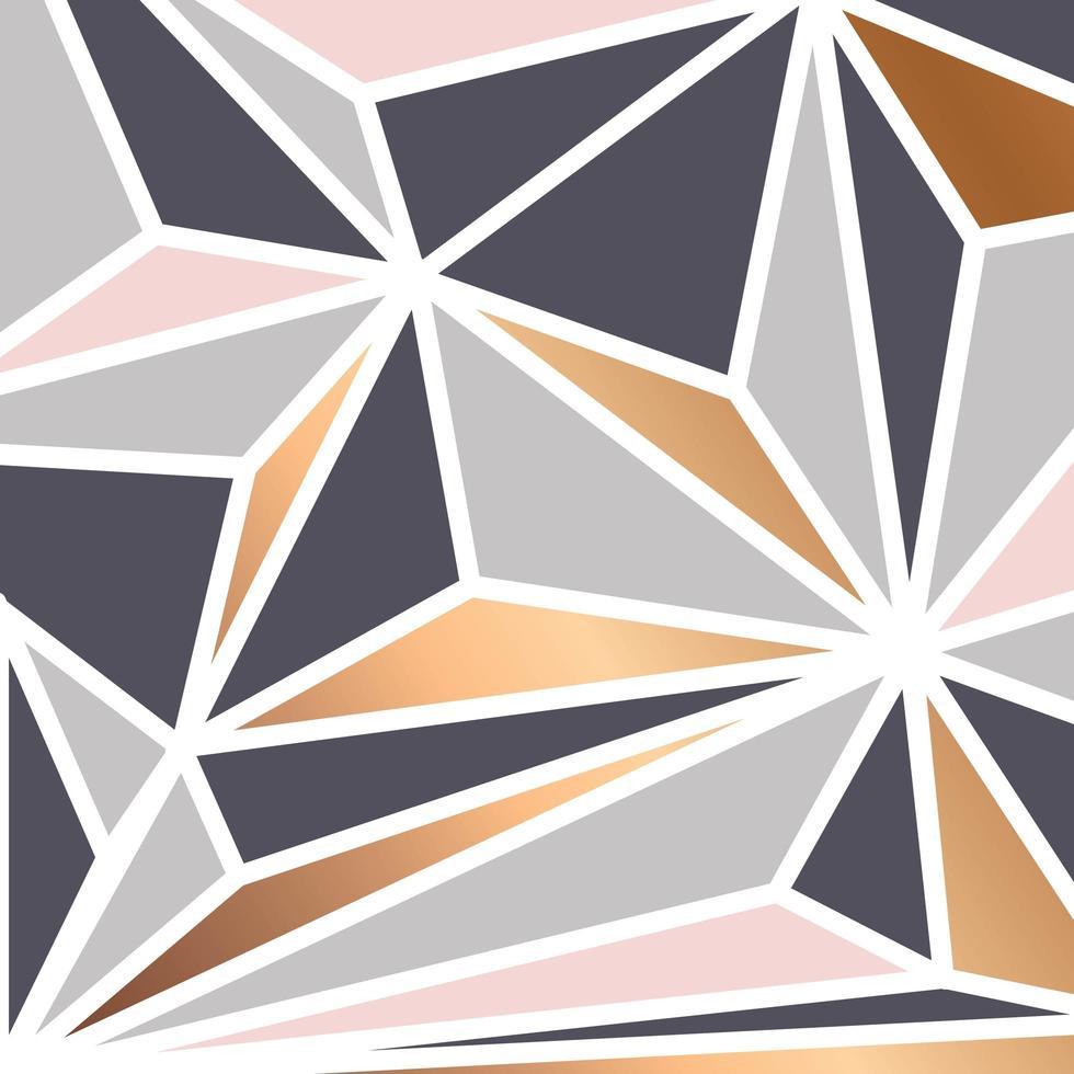 Fondo geométrico con triángulos coloridos vector