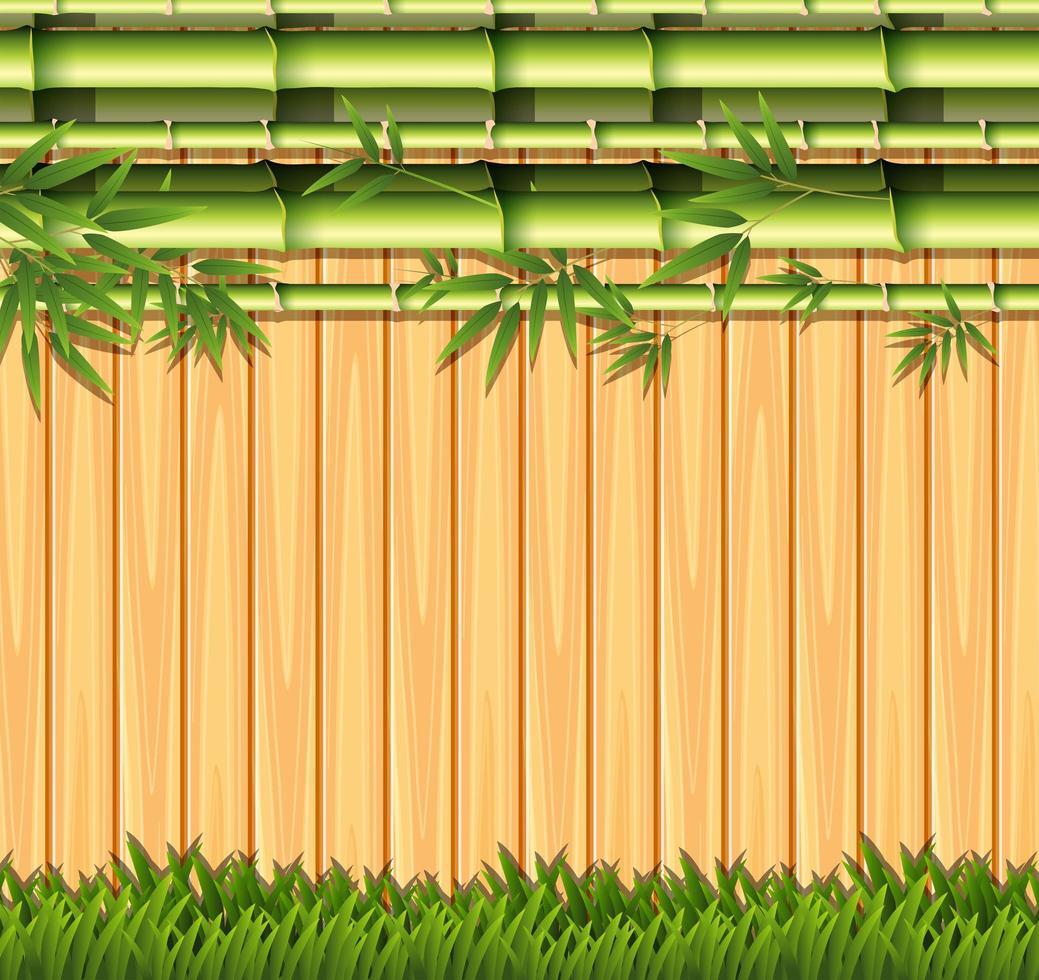 Concept de clôture en bambou et en bois vecteur
