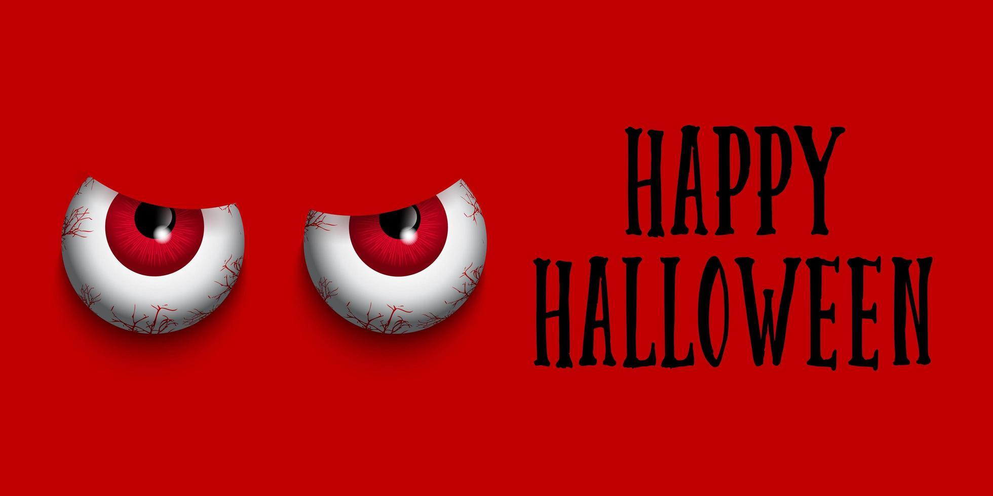 Evil eyes Happy Halloween  vector
