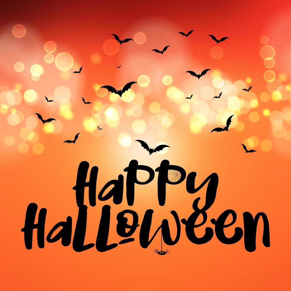 Feliz, halloween, plano de fondo vector