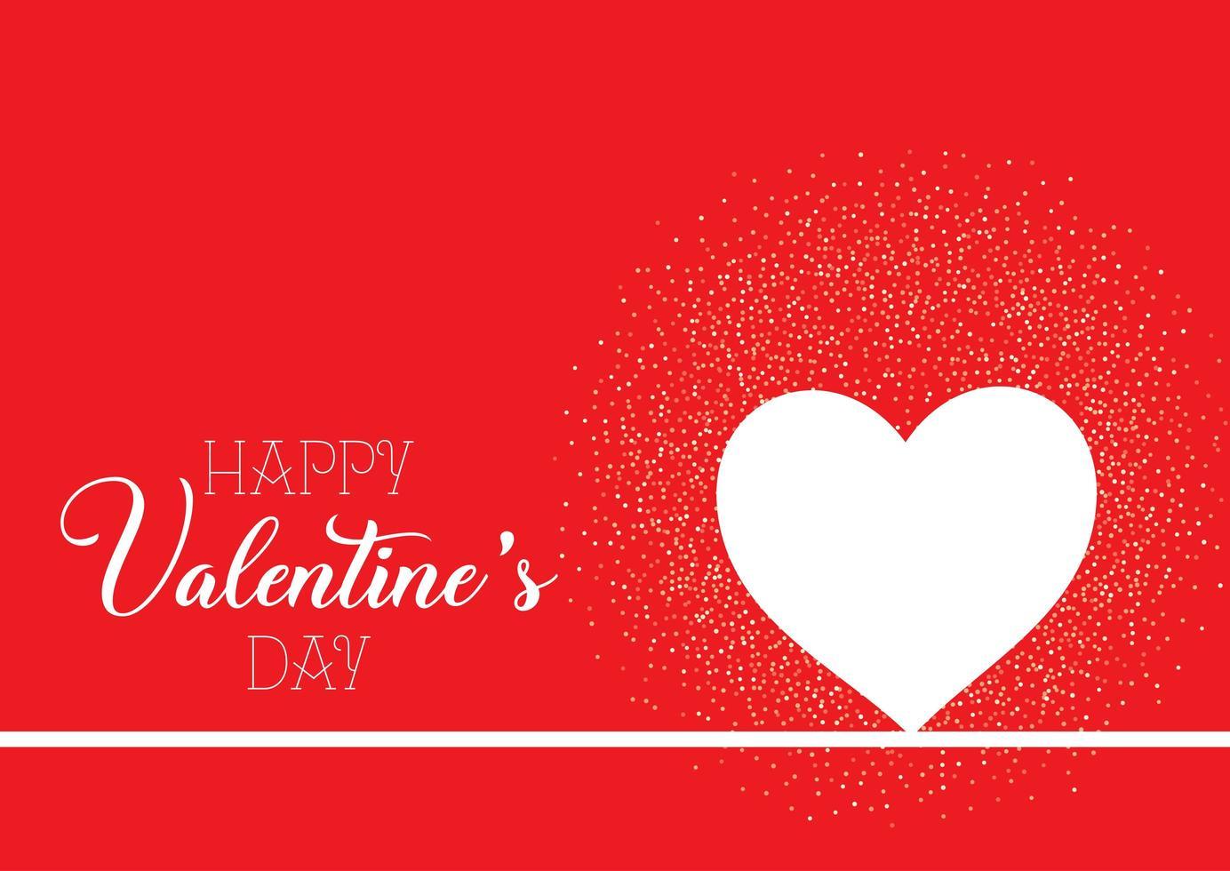 Alla hjärtans dag bakgrund med hjärta och konfetti vektor