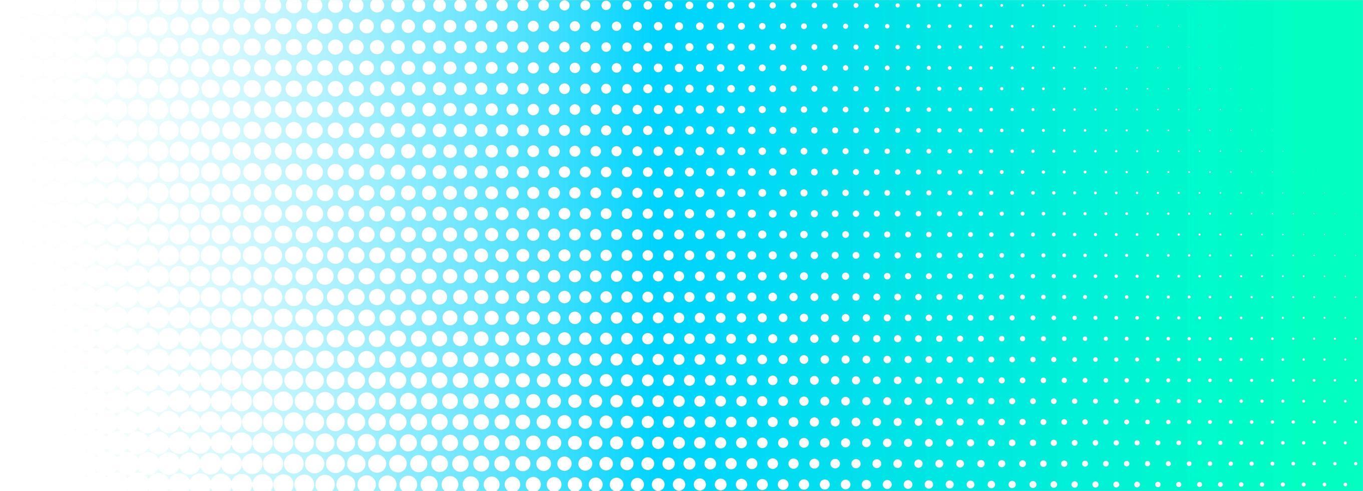 Bannière en pointillé dégradé vert et bleu vecteur