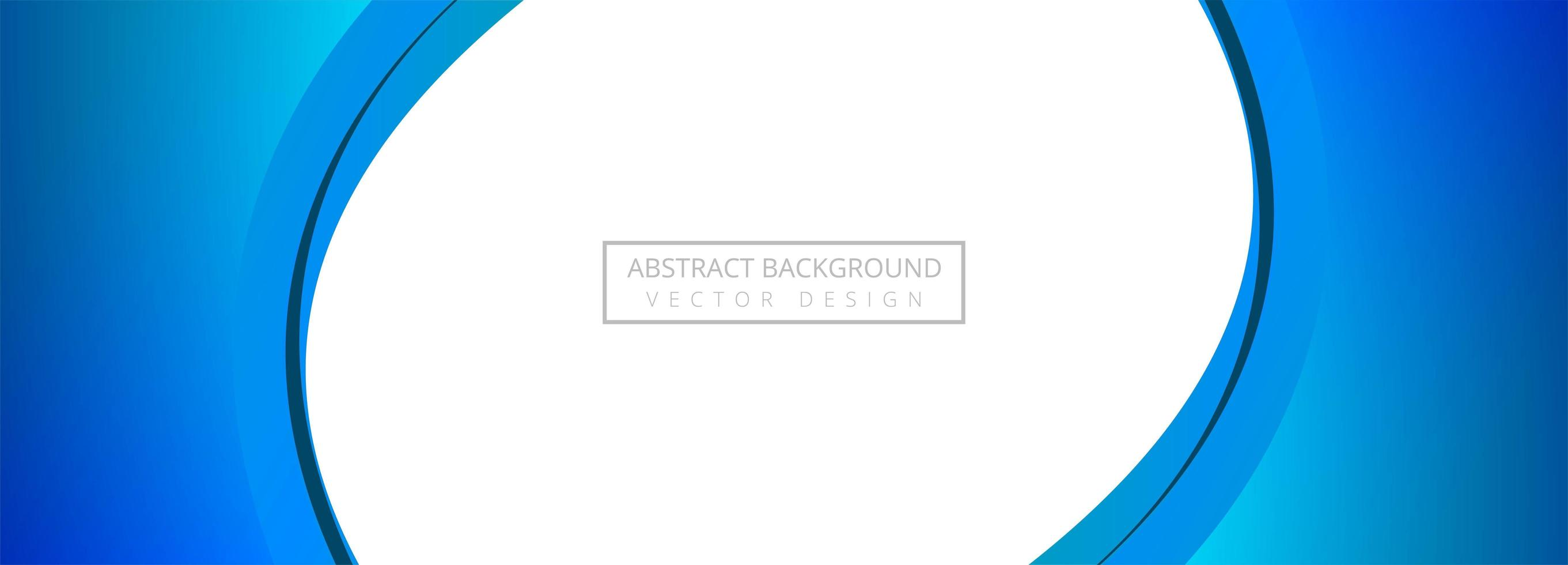 Abstract creative blue wave banner background vector