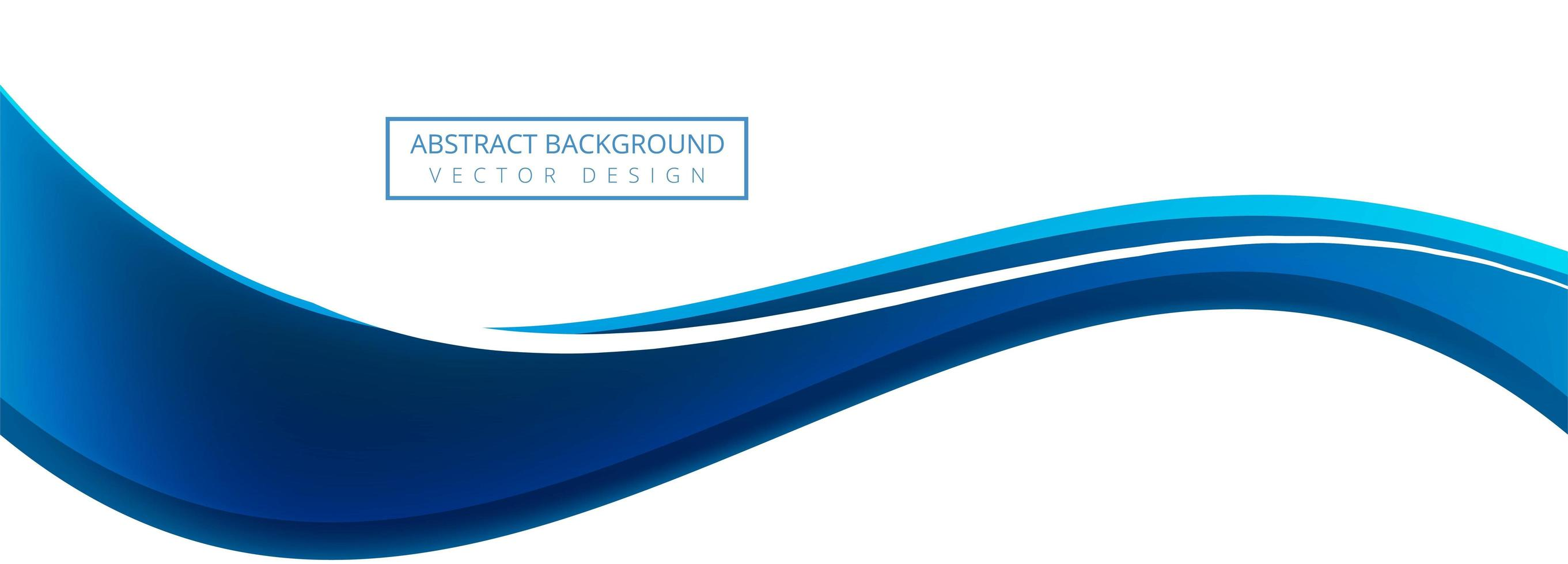 Blue creative business wave banner background vector