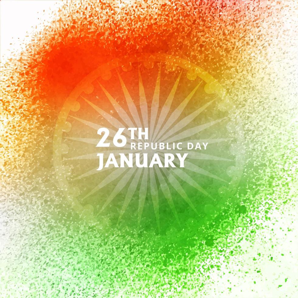 Festa della Repubblica dell'India sfondo ad acquerello vettore