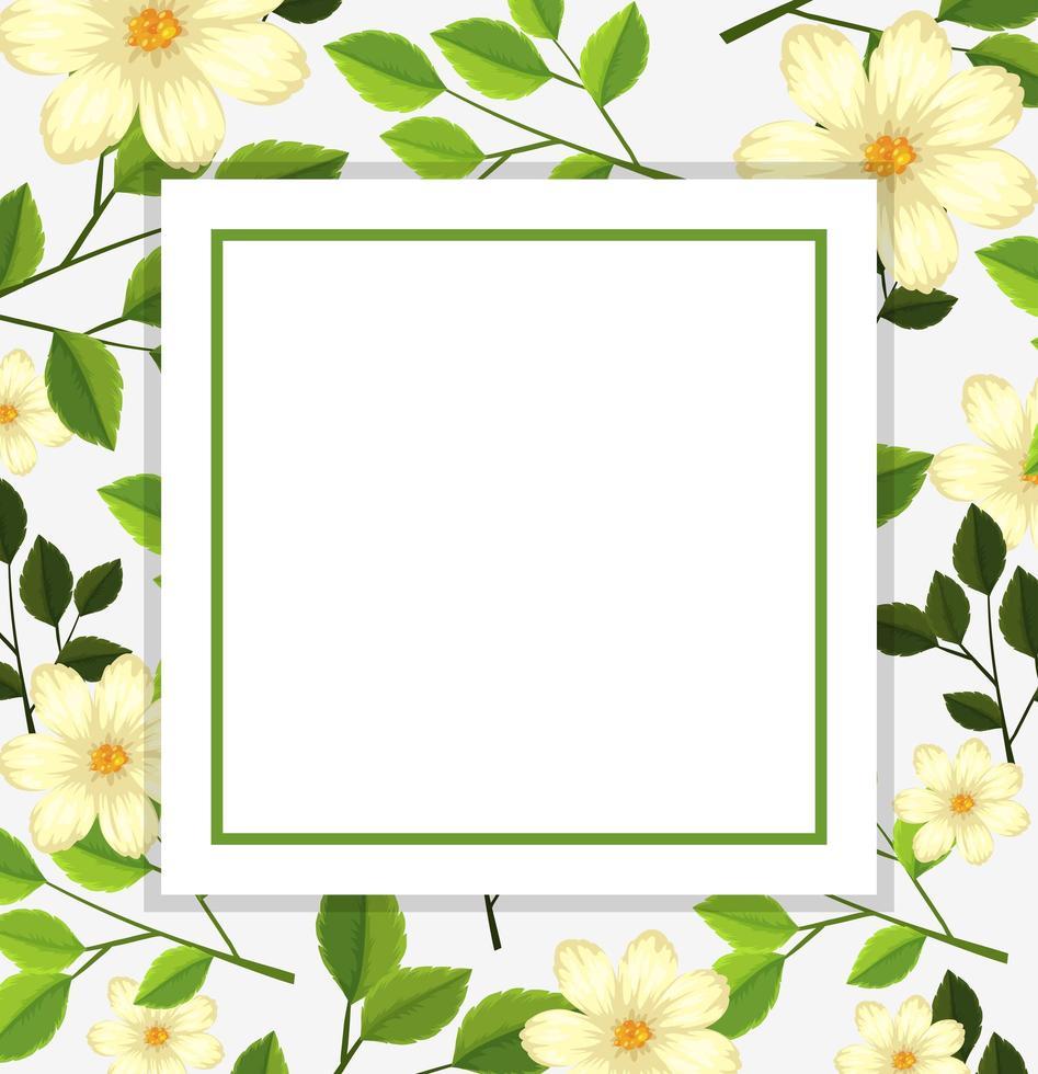 Schöne Blumenkartenschablone vektor