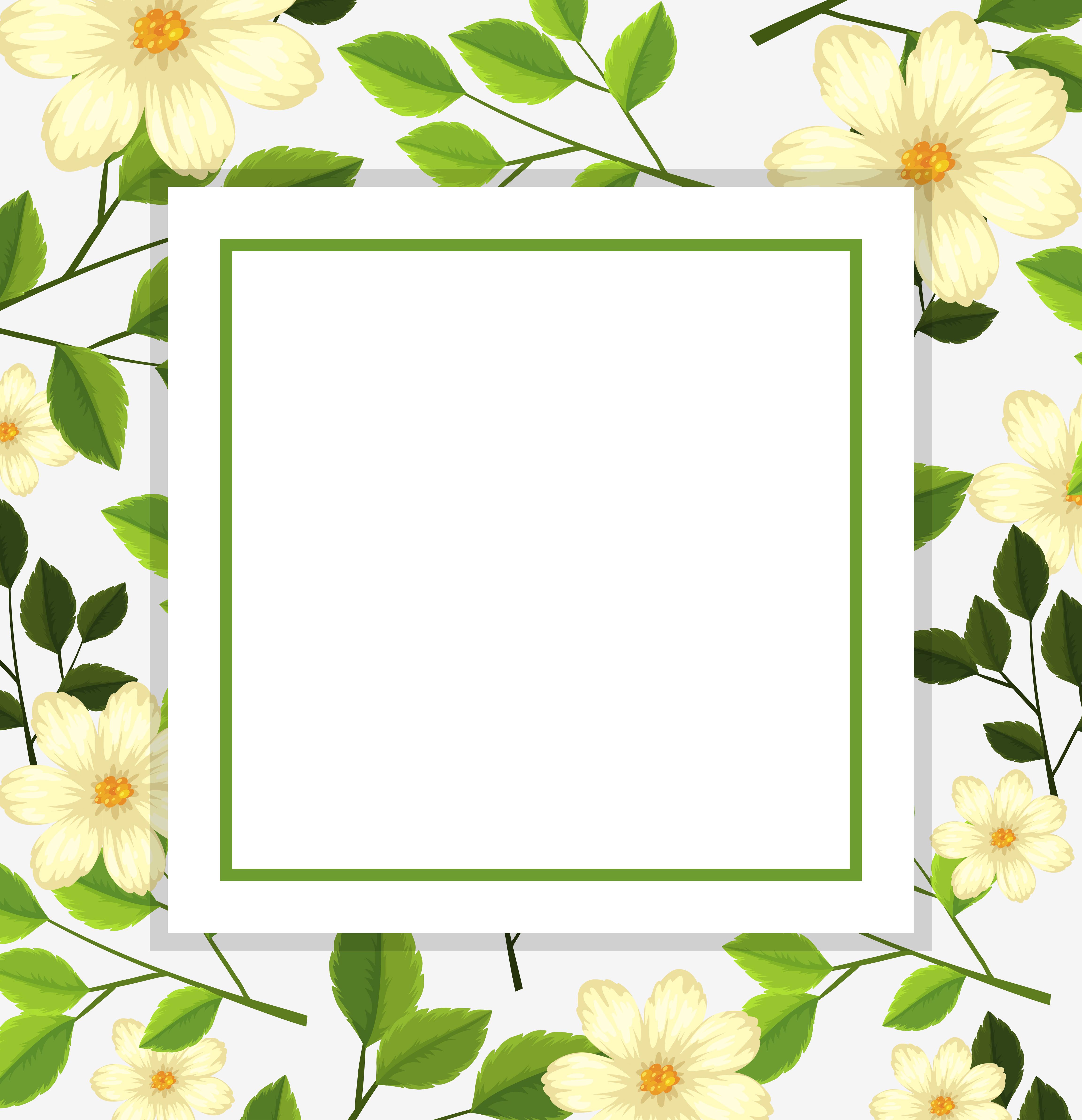 beautiful flower card template  download free vectors