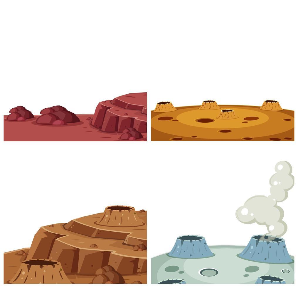 Conjunto de superficie de Marte vector