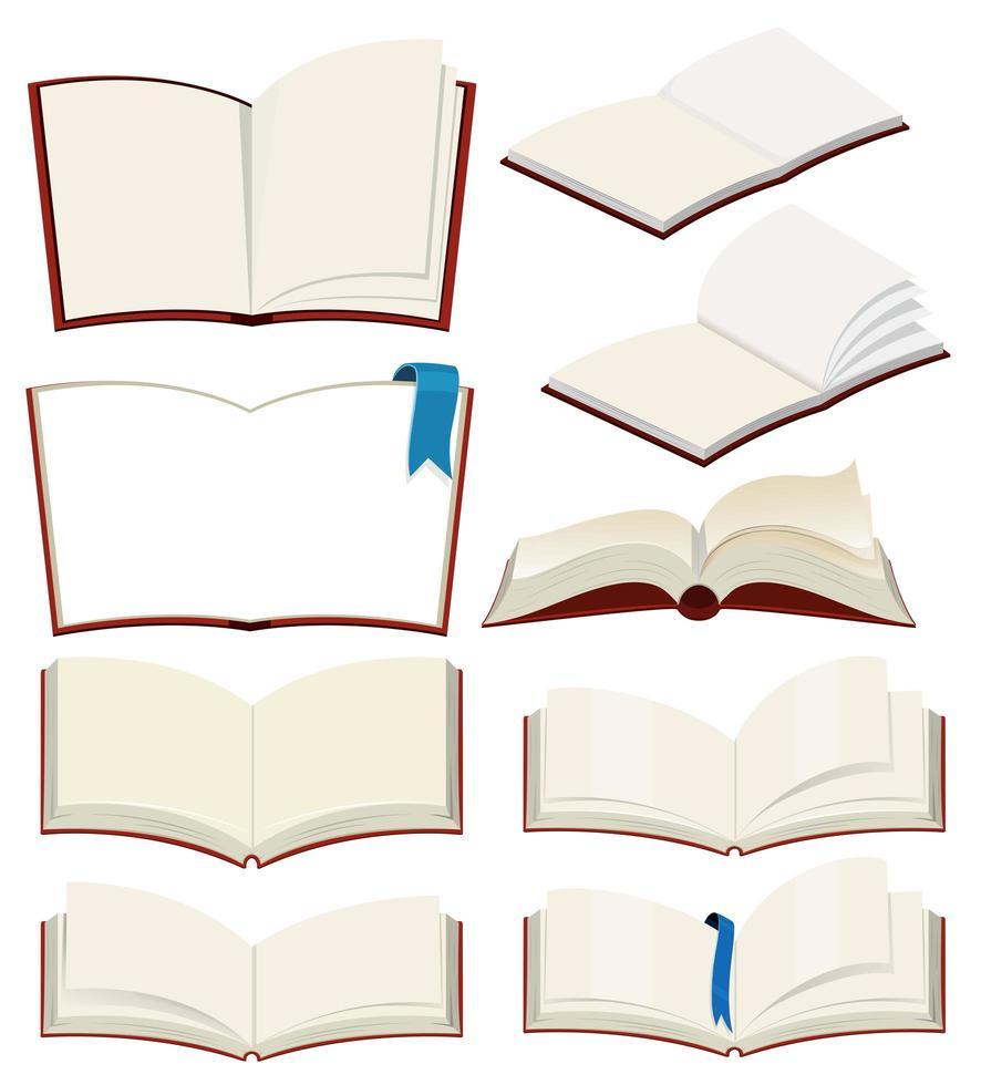 Set di libro bianco vettore