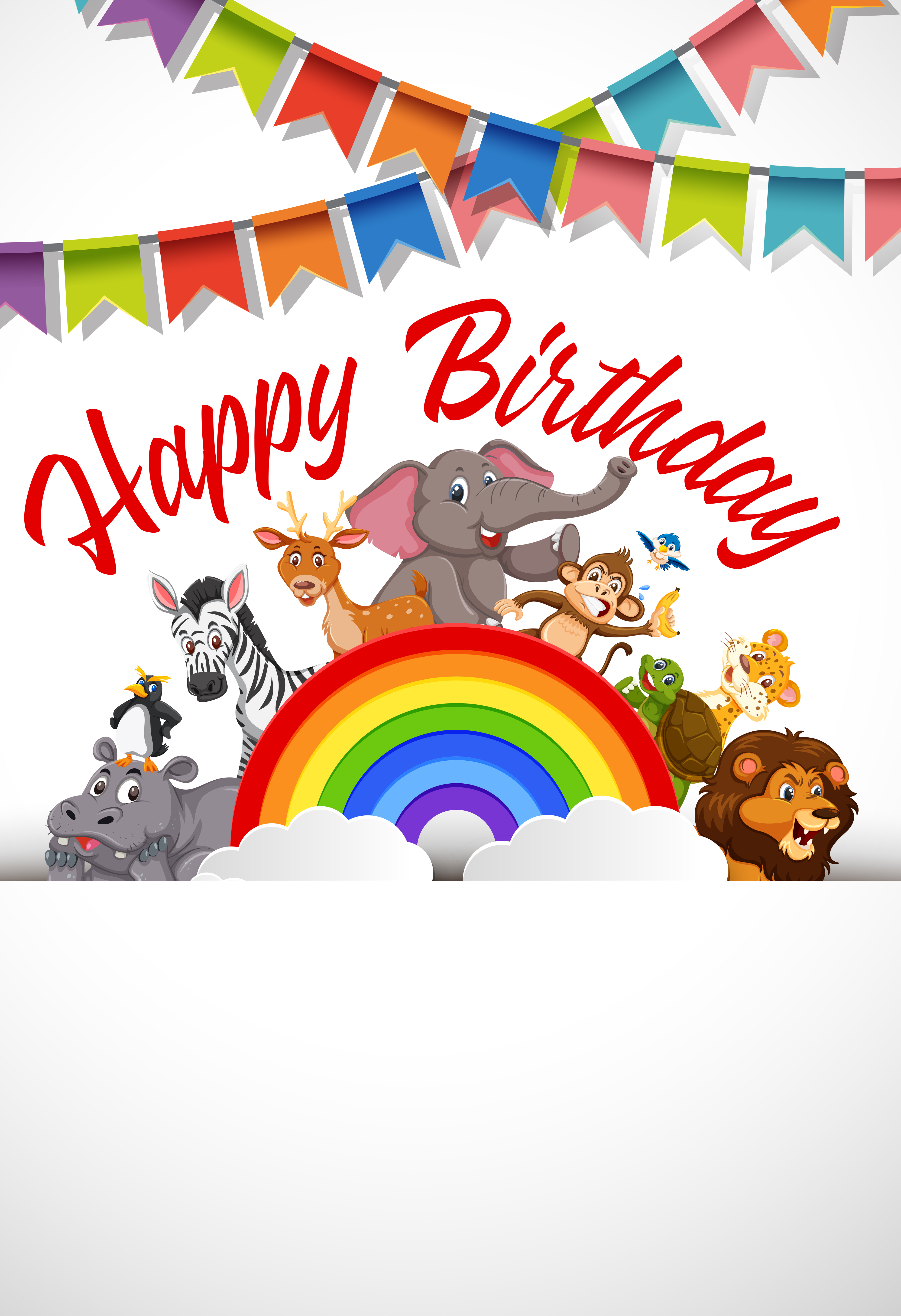 a happy birthday card template  download free vectors