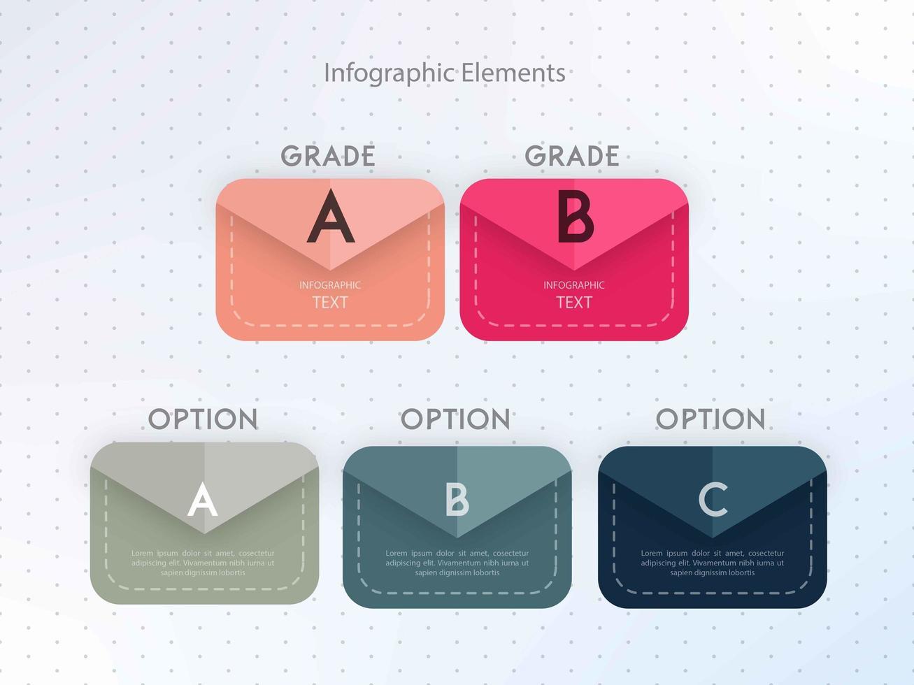 Infographic kleur optie sjabloonontwerp vector